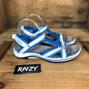 LL Bean Comfort Velcro Strap Sandals